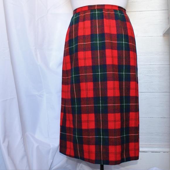 a150b516b5 Pendleton Skirts | 70s Vintage Plaid Wool Skirt | Poshmark